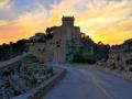 Castillo con la puesta del sol