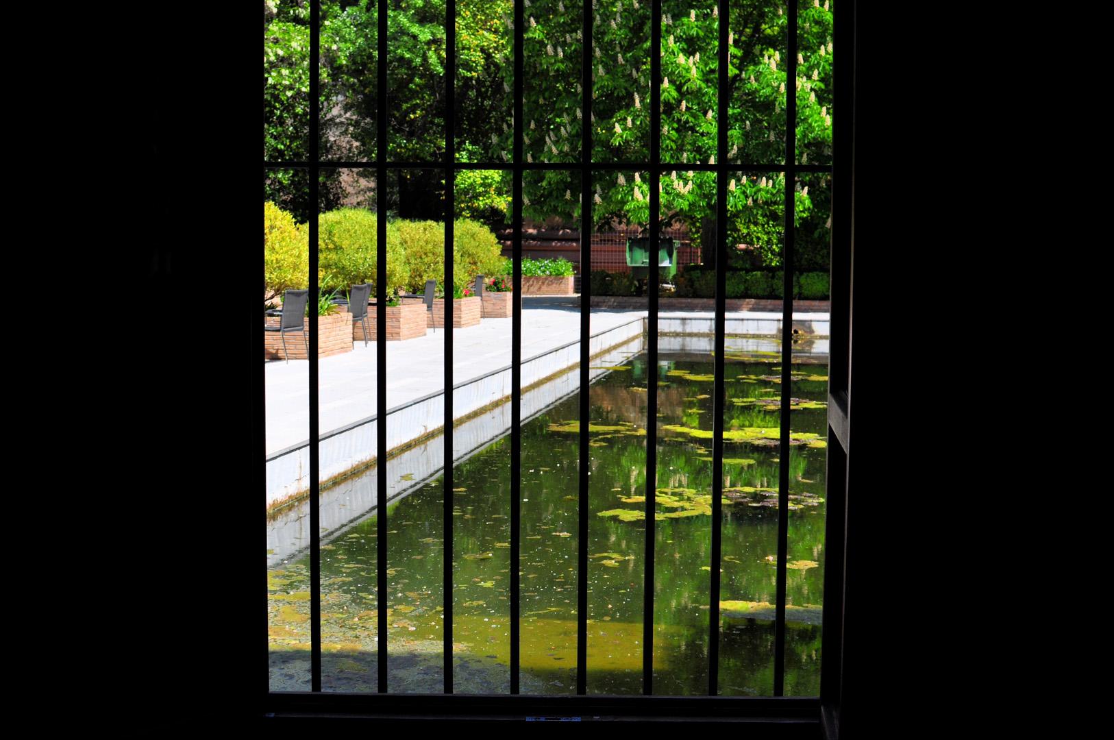 Vista al jardín desde la habitación